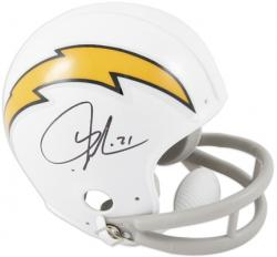 LaDainian Tomlinson San Diego Chargers Autographed White Riddell Mini Helmet