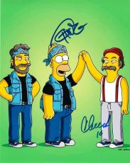 Tommy Chong & Cheech Marin Signed 8x10 Photo The Simpsons Autograph Coa