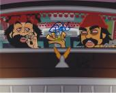 Tommy Chong & Cheech Marin Signed Autograph 8x10 Photo Animated Movie B