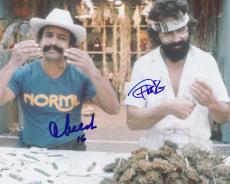 Tommy Chong & Cheech Marin Signed Autograph 8x10 Photo Nice Dreams w/ Pot Plants