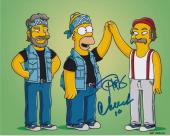 Tommy Chong & Cheech Marin Signed Autograph 8x10 Photo The Simpsons Pose