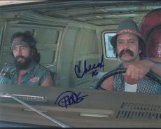 Tommy Chong & Cheech Marin Signed Autographed 8x10 Photo  Up In Smoke B