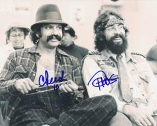 Tommy Chong & Cheech Marin Signed Autographed 8x10 Photo Up in Smoke C