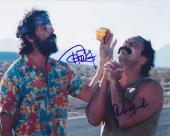 Tommy Chong & Cheech Marin Signed Autographed 8x10 Photo Up in Smoke D