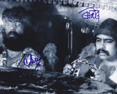 Tommy Chong & Cheech Marin Signed Autographed 8x10 Photo Up in Smoke E