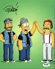 Tommy Chong The Simpsons Signed 8X10 Photo Autographed PSA/DNA #Z55314