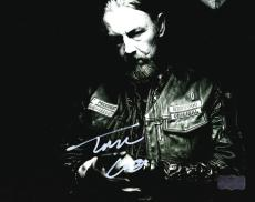"""Tommy Flanagan """"Chibs Telford"""" Autographed/Signed Iconic Sons of Anarchy Black & White 8x10 Photo with """"Chibs"""" Inscription"""