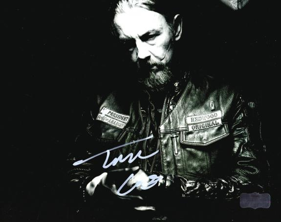 """Tommy Flanagan """"Chibs Telford"""" Autographed/Signed Iconic Sons of Anarchy Black & White 8×10 Photo with """"Chibs"""" Inscription"""