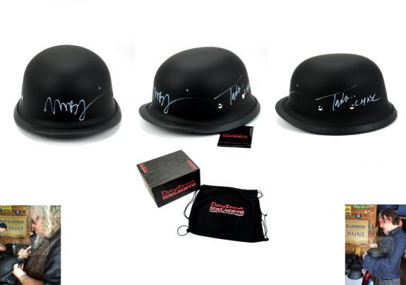 "Tommy Flanagan ""Chibs Telford"" & Mark Boone Jr ""Bobby Munson"" Signed Black Matte Daytona Authentic Biker Helmet"
