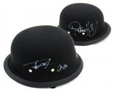 """Tommy Flanagan & Ryan Hurst Signed Daytona Matte Black Authentic Biker Helmet With """"Chibs"""" and """"Opie"""" Inscriptions"""
