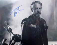 Tommy Flanagan Signed Sons Of Anarchy 11x14 Photo - B&W with Bike