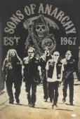 Tommy Flanagan Signed Sons Of Anarchy 36x24 Poster with 5 Characters