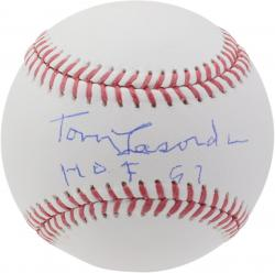 """Tommy Lasorda Los Angeles Dodgers Autographed Baseball with """"HOF 97"""" Inscription"""