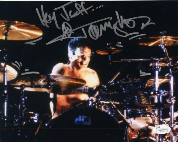 TOMMY LEE HAND SIGNED 8x10 COLOR PHOTO      MOTLEY CRUE      HEY JEFF        JSA