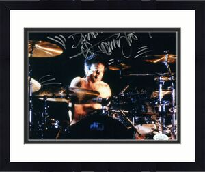 TOMMY LEE HAND SIGNED 8x10 COLOR PHOTO        MOTLEY CRUE      TO DAVID      JSA