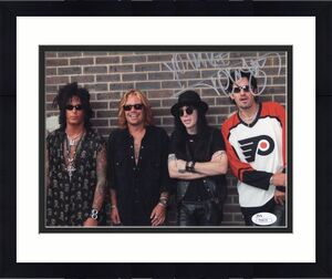 TOMMY LEE HAND SIGNED 8x10 COLOR PHOTO        MOTLEY CRUE     TO MIKE        JSA