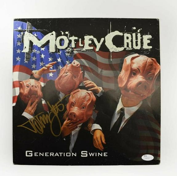 Tommy Lee Motley Crue Autographed Signed Album Display Cover Authentic JSA COA