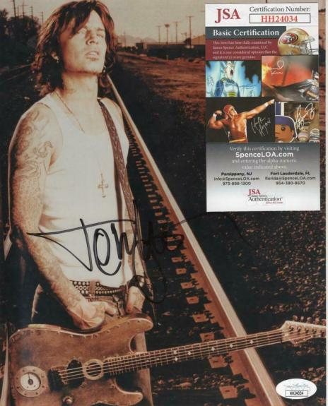 Tommy Lee Musician Motley Crue Signed Autographed 8x10 Photo Jsa Hh24034