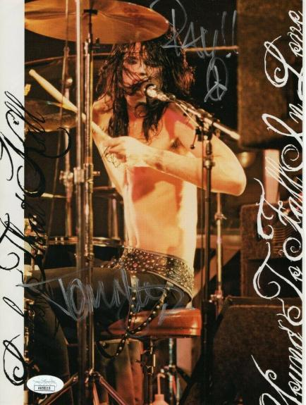 Tommy Lee Signed Autographed 8X11 Photo Motley Crue Drummer JSA JJ55115