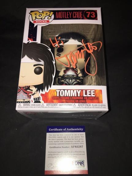 Tommy Lee Signed Official Motley Crue Funko Pop Vinyl Figure PSA/DNA #2