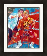 Tommy Morrison autographed 8x10 Photo (Boxing, Rocky) with Sylvester Stallone, Leroy Neiman Matted & Framed