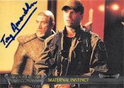 Tony Amendola autographed trading card Stargate SG1 Master Bratac 2001 #67 Maternal Instinct