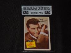 Tony Bennett 1957 Topps Hit Stars Signed Autographed Card #16 Cas Authentic
