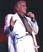 "Tony Bennett Autographed 8""x 10"" Singing in White Jacket Photograph - PSA/DNA COA"
