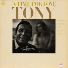 Tony Bennett Autographed A Time For Love Album Cover - PSA/DNA COA