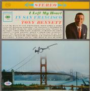 Tony Bennett Autographed I Left My Heart In San Francisco Vinyl Album Cover Signed in Black - PSA/DNA