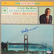 Tony Bennett Autographed I Left My Heart In San Francisco Vinyl Album Cover Signed in Blue - PSA/DNA