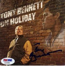 Tony Bennett Autographed On Holiday Cd Cover UACC RD AFTAL COA PSA