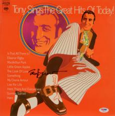 Tony Bennett Autographed Tony Sings The Greatest Hits Of Today Album Cover - PSA/DNA COA