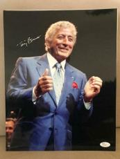 Autographed Tony Bennett Picture - OVERSIZED 11x14 AWESOME+VERY RARE JSA