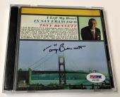 Tony Bennett Left My Heart In San Francisco Signed Autograph CD PSA/DNA COA (B)