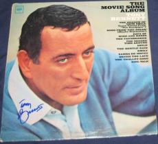 Tony Bennett Pop Jazz Legend Signed 1966 The Movie Songs Album Autographed
