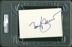 Tony Bennett Signed Picture - 4x6 Index Card Psa dna Slabbed