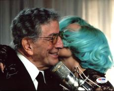 Tony Bennett Signed 8X10 Photo w/ Lady Gaga (Damaged) PSA/DNA #Z92188