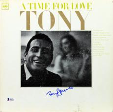 Tony Bennett Signed A Time For Love Album Cover BAS #D05371