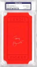 Tony Bennett Signed - Autographed 3x5 inch Index Card - Ticket - Legendary Singer - PSA/DNA Certificate of Authenticity (COA) - PSA Slabbed Holder