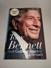 """TONY BENNETT signed autographed """"JUST GETTING STARTED"""" HC BOOK PSA/DNA COA!"""