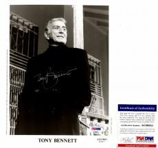 Tony Bennett Autographed Picture - Legendary Jazz Singer 8x10 inch PSA DNA Authenticity