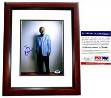 Autographed Tony Bennett Photo - Legendary Jazz Singer 8x10 inch PSA DNA Authenticity MAHOGANY CUSTOM FRAME