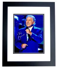 Tony Bennett Signed - Autographed Legendary Singer - Songwriter 8x10 inch Photo BLACK CUSTOM FRAME - Guaranteed to pass PSA or JSA
