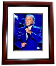 Tony Bennett Signed - Autographed Legendary Singer - Songwriter 8x10 inch Photo MAHOGANY CUSTOM FRAME - Guaranteed to pass PSA or JSA