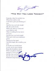 "Tony Bennett Signed Autographed ""The Way You Look Tonight"" Lyric Sheet COA VD"