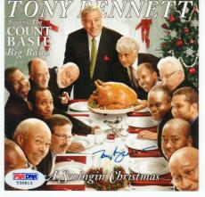 Tony Bennett signed CD Cover Booklet A Swingin' Christmas PSA/DNA auto