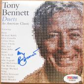 Tony Bennett signed CD Cover Booklet Duets PSA/DNA auto