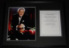 Signed Bennett Photograph - Framed 18x24 Lyrics & Display JSA