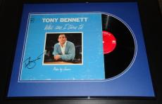 Tony Bennett Signed Framed 1964 Who Can I Turn To Record Album Display JSA